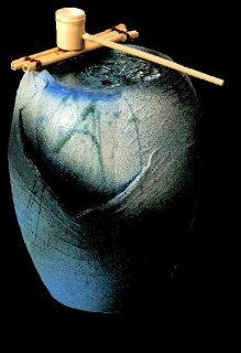 「湧き水つくばい清涼(竹・循環式モーター付)」【信楽陶器卸商業協同組合】