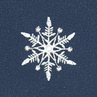 【ネコポス可】お弁当フロシキ・冬刺繍 雪(紺色)