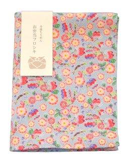 【ネコポス可】お弁当フロシキ・京小紋 桜に蝶(BL)