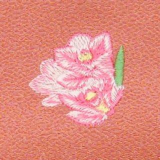 【ネコポス可】歳時記ふろしき・花 シンピジューム(柿色)