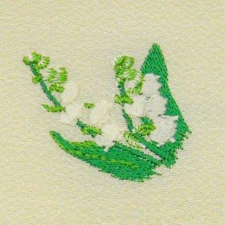 【ネコポス可】歳時記ふろしき・花 スズラン(卯の花色)