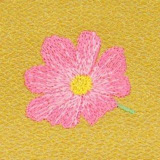 【ネコポス可】歳時記ふろしき・花 コスモス(からし色)