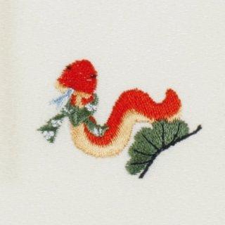 【ネコポス可】開運干支ふろしき 巳(へび)(卯の花色)