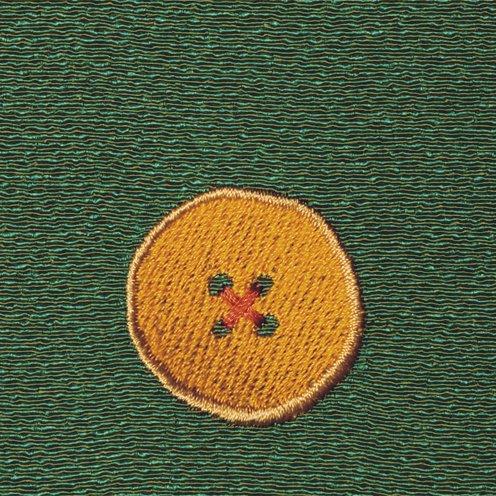 【ネコポス可】ボタン姫ふろしき 玉虫(草色)