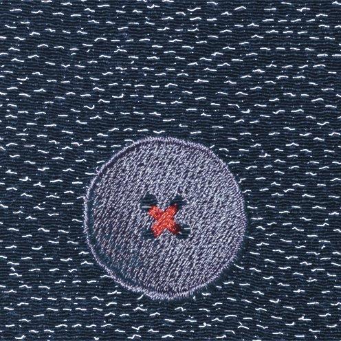 【ネコポス可】ボタン姫ふろしき 青海波(紺色)