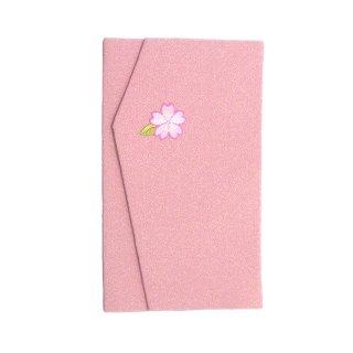一色ちりめん 金封入れ 桜(薄紅色)
