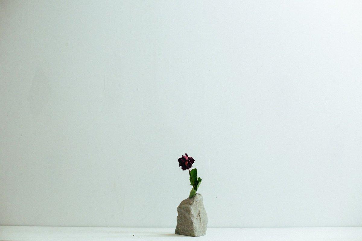 Real Stone Vase #105