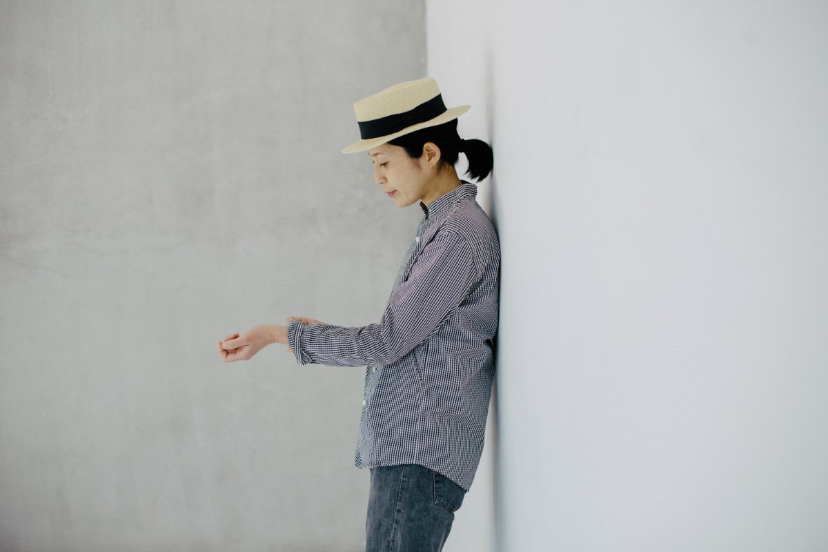 MUYA 60/1 Stand collar shirts gingham