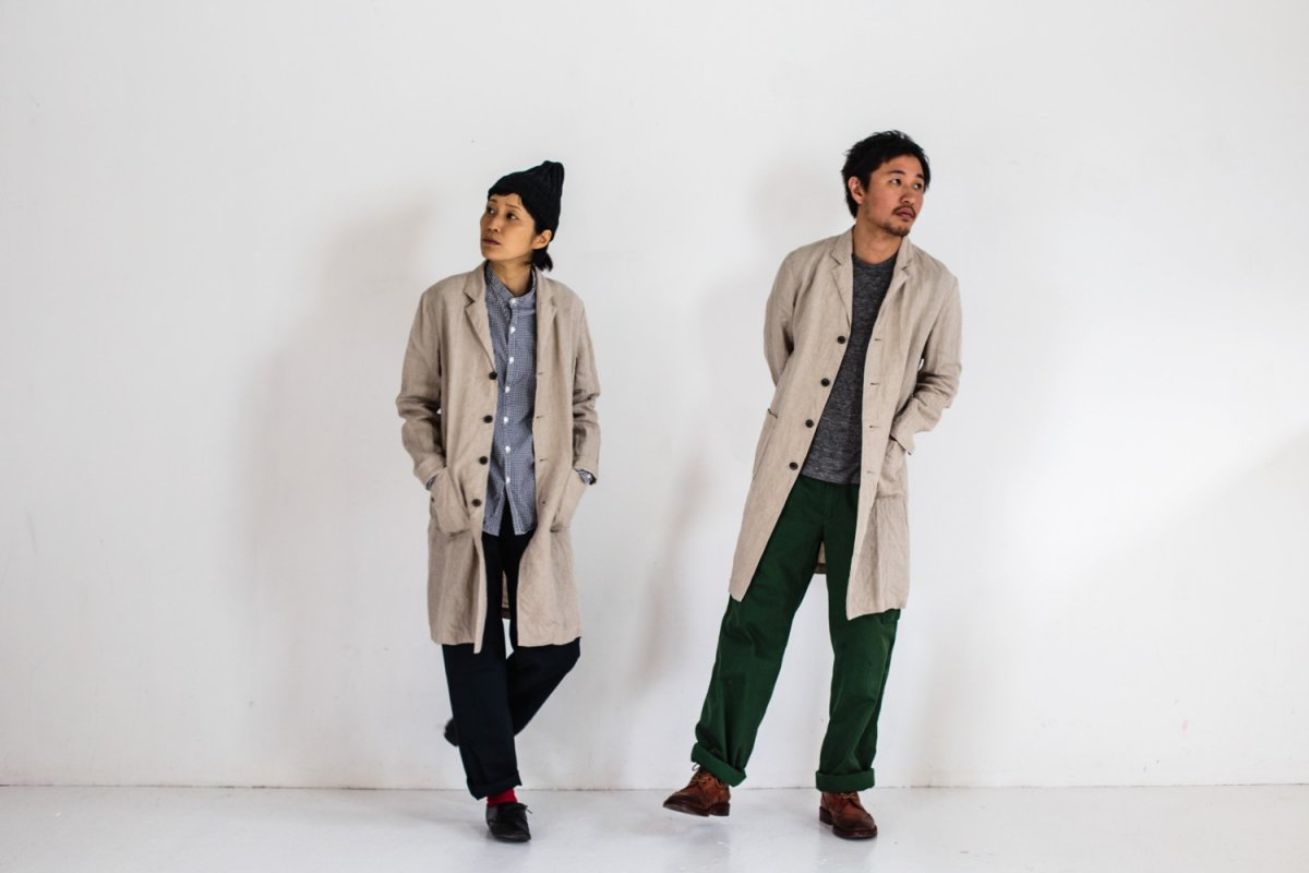 RINEN 40/1 LINEN Tailored Coat