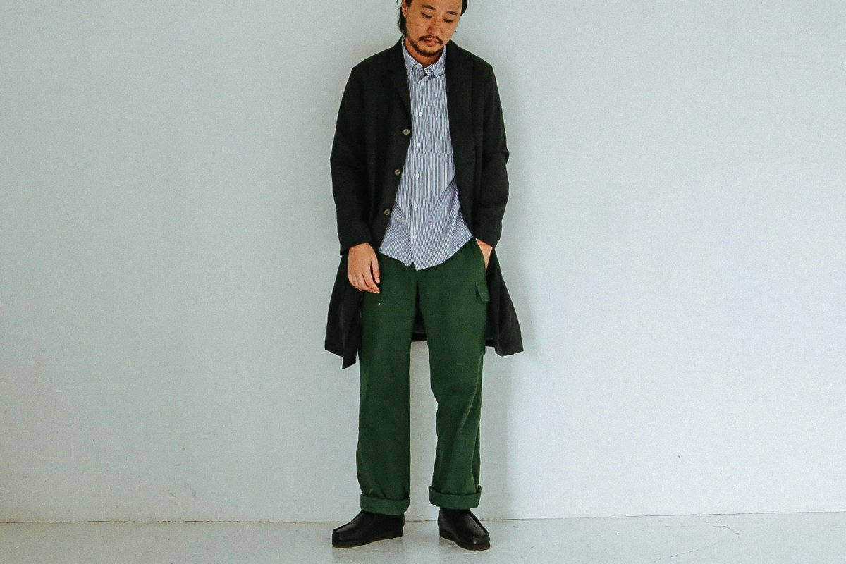 <img class='new_mark_img1' src='//img.shop-pro.jp/img/new/icons8.gif' style='border:none;display:inline;margin:0px;padding:0px;width:auto;' />RINEN 2/36 Wool Tailored Coat