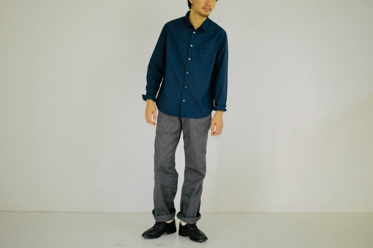 MUYA 60/1 Regular collar shirts nvy