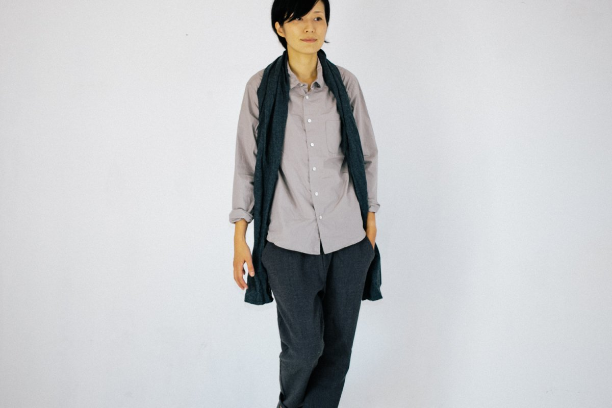 MUYA 60/1 Regular collar shirts gray