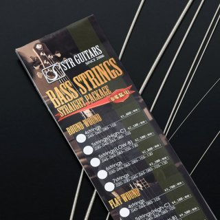 STR GUITARS BASS STRINGS 6ST Flat Wound