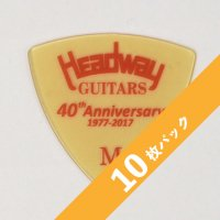 【3%オフ】HEADWAY 40th Anniv. ULTEM PICK Medium【10枚パック】