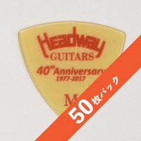 【8%オフ】HEADWAY 40th Anniv. ULTEM PICK Medium【50枚パック】