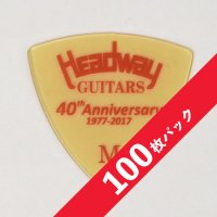 【10%オフ】HEADWAY 40th Anniv. ULTEM PICK Medium【100枚パック】