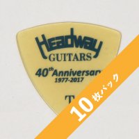 【3%オフ】HEADWAY 40th Anniv. ULTEM PICK Thin【10枚パック】