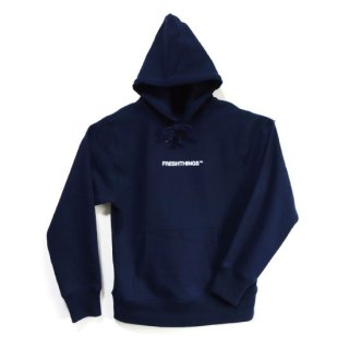 LOGO HOODED SWEATSHIRT / NAVY