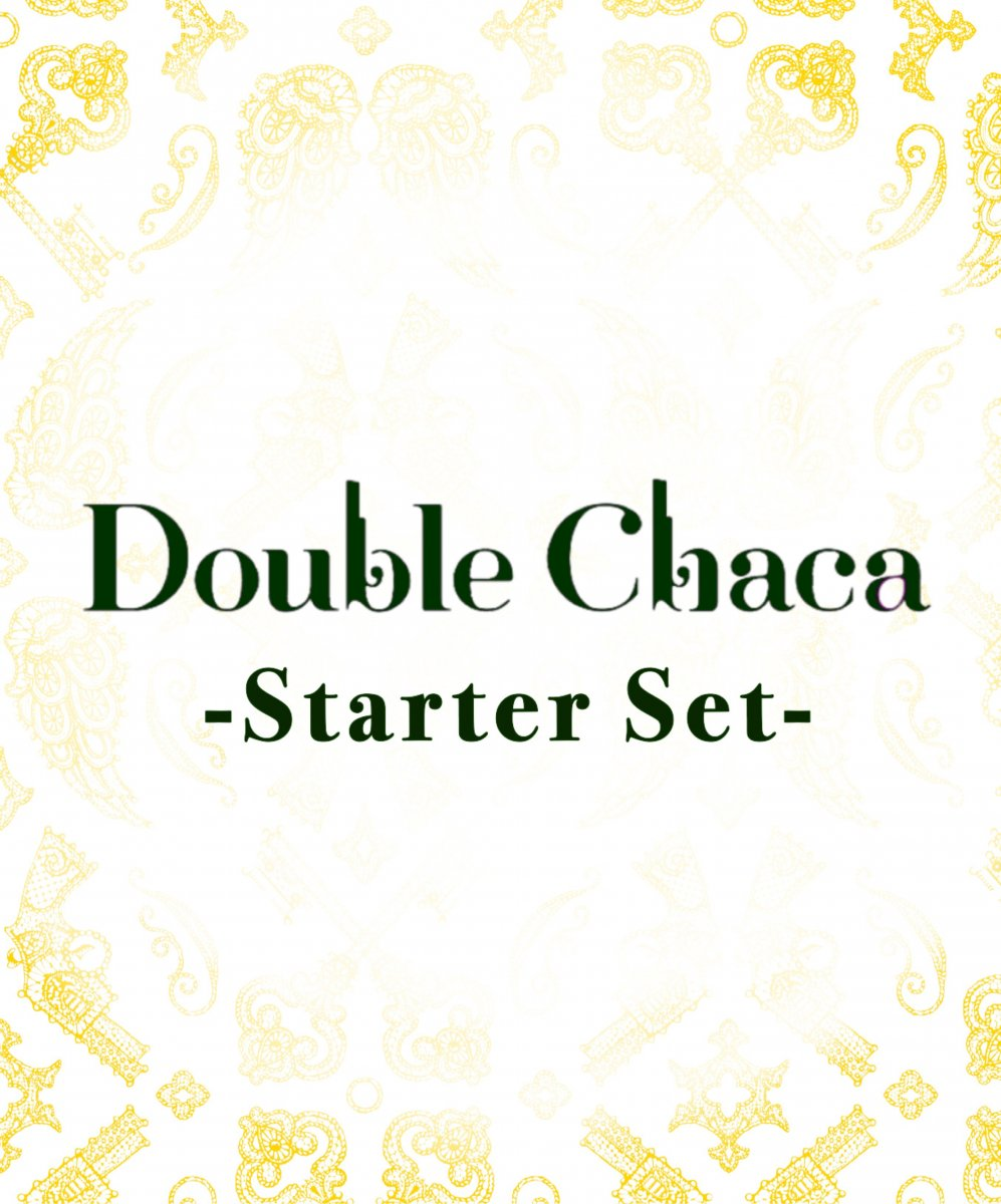 <img class='new_mark_img1' src='https://img.shop-pro.jp/img/new/icons25.gif' style='border:none;display:inline;margin:0px;padding:0px;width:auto;' />Double Chaca starter set