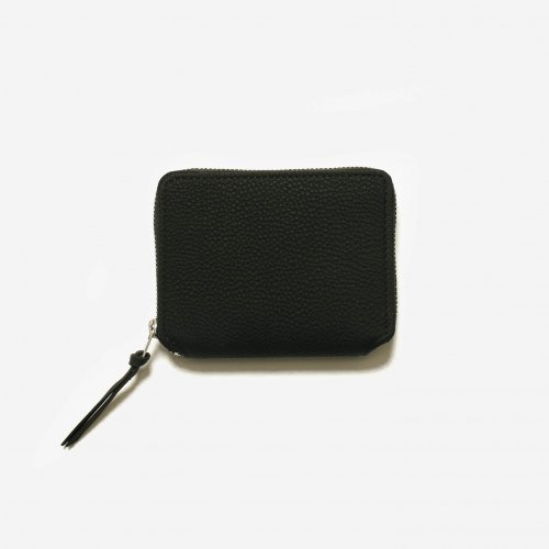 ERA. / BUBBLE CALF ROUND PALM WALLET「Black」