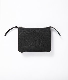 ERA. / BUBBLE CALF UTILITY WALLET MEDIUM「Black」