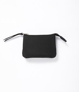 ERA. / BUBBLE CALF UTILITY WALLET SMALL「Black」