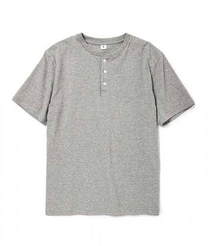 moc T / Henry Neck T-shirts「グレー杢(GR7)」