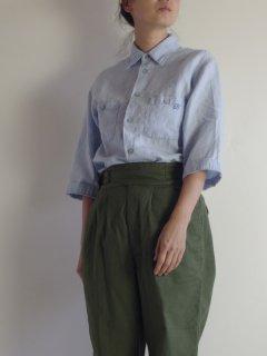 Bohemians(ボヘミアンズ) オリジナル別注コットンリネンシャツ(六分袖)レギュラーカラー