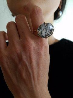 MAISON_RUBUS(メゾンルーバス) Landscape ring(オーバル)10金イエローゴールド