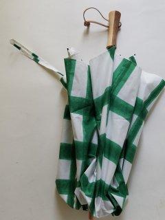 再入荷 breezyblue(ブリージーブルー) ハンドプリント折りたたみ傘 晴雨兼用(UVカット仕様)