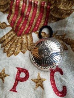 Indian jewellery(インディアンジュエリー)  シルバーコンチョヘアゴム