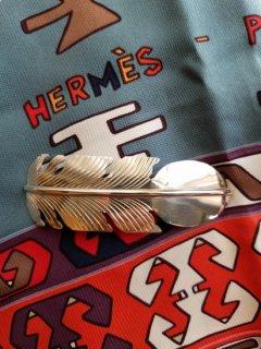 Indian jewellery(インディアンジュエリー)Navajo(ナバホ)族  シルバーフェザーバレッタ