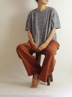 maison de soil(メゾンドソイル)  コーマ天竺クルーネックTシャツ  【メール便可能】