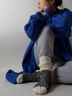 HIRSCH NATUR(ヒルシュ ナチュラ)オーガニックメリノウール ノルディック柄ジャガードソックス 【メール便指定可能】