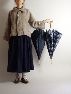 Bon Bon Store(ボンボンストア)エゴの木 チェック長傘(58センチ) 雨傘 【送料別途】