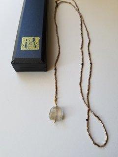 当店別注MAISON_RUBUS(メゾンルーバス)tresure ネックレス(ルチルクォーツ)/ 1920's vintage beads