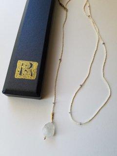 当店別注MAISON_RUBUS(メゾンルーバス)tresure ネックレス(ムーンストーン)/ 1920's vintage beads