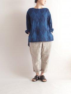 KAPITAL(キャピタル) IDGリネン ダイヤパッチワーク エースシャツ