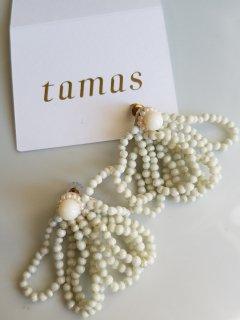 tamas(タマス)ピアス  Shalala White