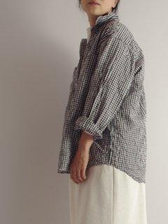 Vas-y Lentement(ヴァジー・ラントマン) オーバーサイズシャツ ギンガムチェック