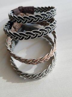saami crafts (サーミクラフト) 三つ編みレザーブレスレット AL050