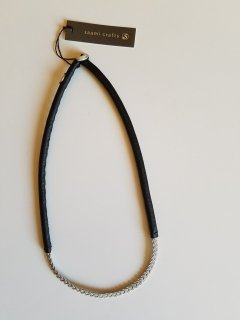 saami crafts (サーミクラフト) 三つ編みレザーネックレス(40cm)V242