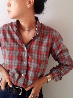 ★SOUTIENCOL(スティアンコル)ボタンダウン チェックシャツ(CANCLINI)