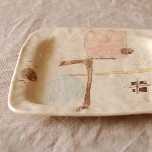 ケーキ皿 四角 / ハコリエ