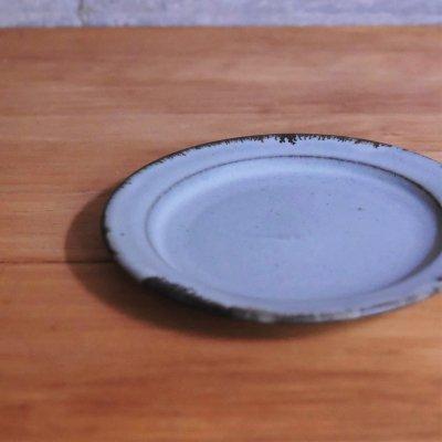 灰釉 5寸皿 / スノウ陶工房