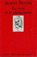 La Voix et le Phenomene Poche <br>仏文 声と現象 <br>ジャック・デリダ