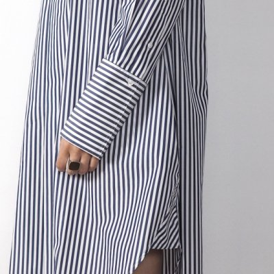 STUDIO NICHOLSON スタジオニコルソン VICO OVERSIZE MULTI STRIPE SHIRT DRESS<img class='new_mark_img2' src='//img.shop-pro.jp/img/new/icons8.gif' style='border:none;display:inline;margin:0px;padding:0px;width:auto;' />