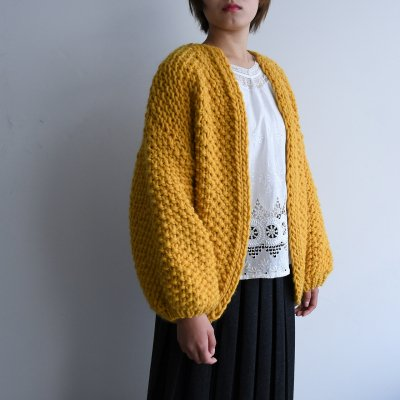 <img class='new_mark_img1' src='https://img.shop-pro.jp/img/new/icons20.gif' style='border:none;display:inline;margin:0px;padding:0px;width:auto;' />Maiami Big Cardigan Mustard