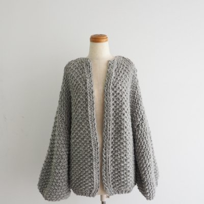 Maiami Big Cardigan Sweatergrey<img class='new_mark_img2' src='//img.shop-pro.jp/img/new/icons8.gif' style='border:none;display:inline;margin:0px;padding:0px;width:auto;' />