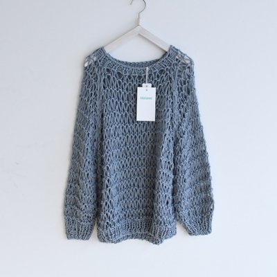 Maiami Cotton Dropstitch Sweater Greysh Blue<img class='new_mark_img2' src='https://img.shop-pro.jp/img/new/icons20.gif' style='border:none;display:inline;margin:0px;padding:0px;width:auto;' />